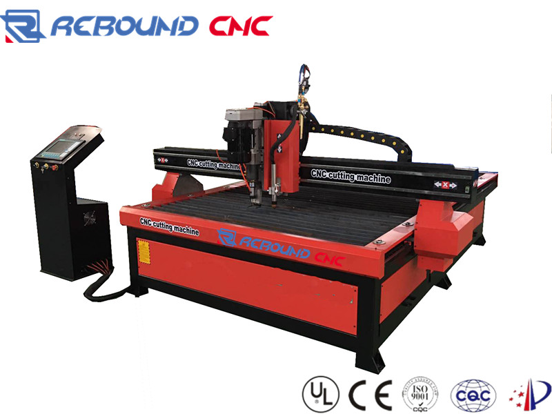 China steel/iron plate CNC plasma and gas/flame cutting machines with drilling torch